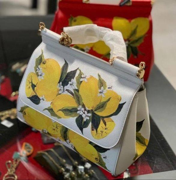 ★專櫃52折! Dolce & Gabbana BB6002 檸檬手繪圖騰中款西西里兩用包