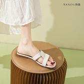 一字拖女外穿時尚涼拖鞋平底夏季涼拖【慢客生活】