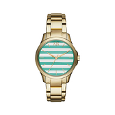 【Armani Exchange】A│X 義式線條質感時尚鋼帶腕錶-活潑綠/AX5233/台灣總代理公司貨享兩年保固