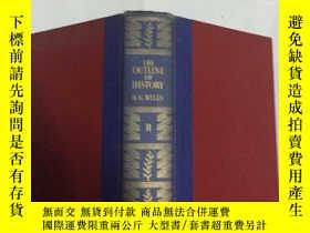 二手書博民逛書店The罕見Outline of History 世界史綱Ⅱ(精裝