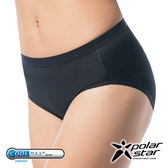 PolarStar 女 coolmax® 涼感纖維 排汗快乾三角內褲 中腰│透氣│抗菌│抗靜電│MIT製造 - P10169 黑