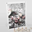 【Lawrence羅蘭絲】兩片式壓克力桌立框A4 展示架 菜單架 獎狀框 證書框 佈告欄 壓克力框