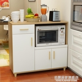 現代簡約餐邊櫃北歐茶水櫃櫥櫃收納碗櫃廚房烤箱櫃子儲物微波爐櫃 NMS名購居家