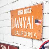 California 鐵板掛飾40*20-生活工場