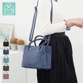 側背包 編織包 雙層小方包兩用手提包 女包 89.Alley-HB89189