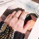 【NiNi Me】戒指 氣質甜美愛心水鑽雙層開口式戒指 戒指 F0032