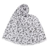 Armani Exchange 經典滿版LOGO純棉薄圍巾(白色)102850