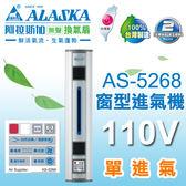 【有燈氏】阿拉斯加 窗型 進氣機 單進氣 鋁門窗適用 110V【AS-5268】