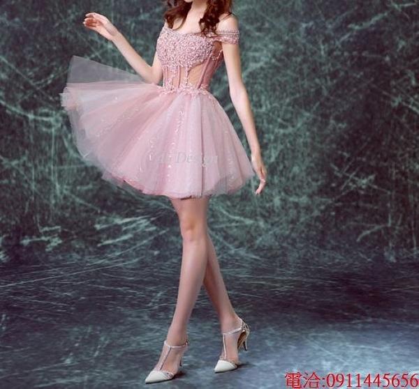 (45 Design)  7天到貨 禮服婚紗晚禮服短款晚宴年會 結婚小禮服短裙 大小顏色款式都能訂製6
