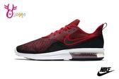 NIKE Air Max Sequent 4 慢跑鞋 男款 氣墊避震運動鞋 O7228#黑紅◆OSOME奧森鞋業