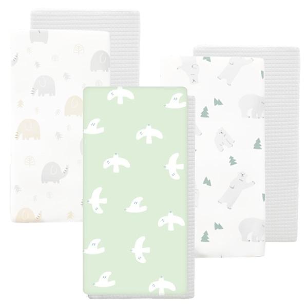 【加贈防踢背心】PAMABE 二合一水洗透氣嬰兒床墊-第二代(3款可選)(70x130x5cm)