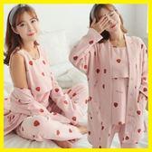 月子服三件套春夏純棉外出產婦產後喂奶家居服秋季孕婦睡衣哺乳衣 居享優品