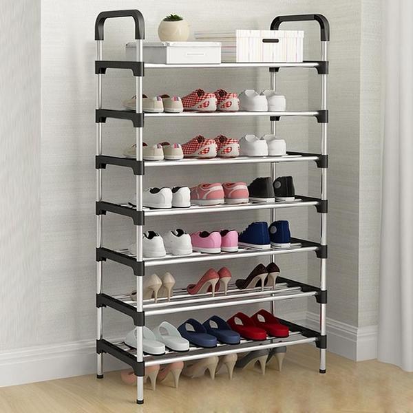 鞋架多層簡易家用組裝門口鞋柜簡約現代門廳柜經濟型宿舍防塵架子