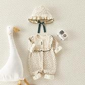 網紅嬰兒連身衣春夏款長袖嬰幼兒衣服可愛公主爬服哈衣女寶寶春裝 幸福第一站