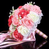 結婚新娘仿真手捧花定制創意DIY婚禮仿真花韓式 影樓婚紗拍攝道具
