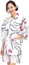 Nishiki【日本代購】和式清涼居家服 睡衣 上下套裝 棉100%-白練地金魚