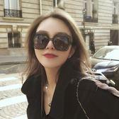 個性大框超輕太陽鏡女眼鏡圓臉新款黑色方形墨鏡女潮時尚前衛 CY潮流站