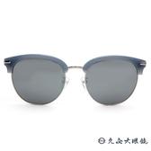 PAUL HUEMAN 韓流墨鏡  眉框 太陽眼鏡 PHS1080A C08 淺藍-銀 久必大眼鏡