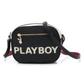 PLAYBOY- 斜背包 摩登街頭系列-黑色