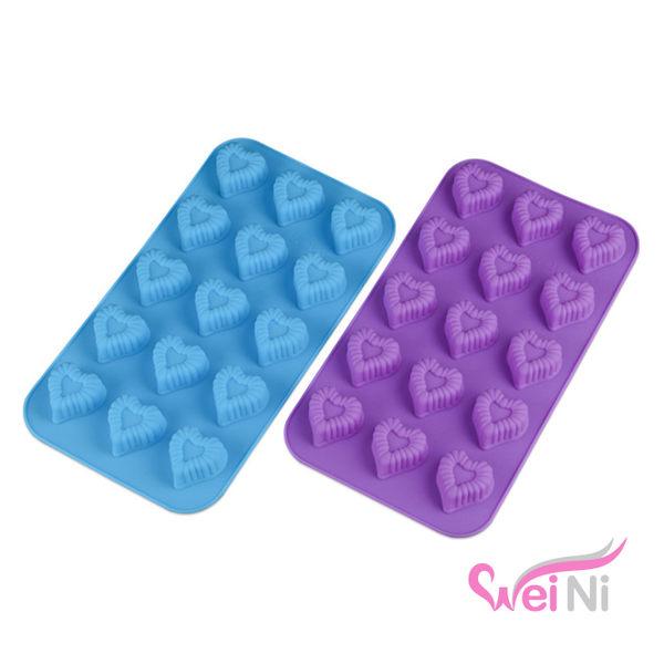 wei-ni 矽膠模 小愛心造型 15連 蛋糕模 矽膠模具 巧克力模型 冰塊模型 餅乾模具 DIY