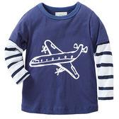 歐美風格男童純棉長T-飛機
