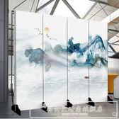 屏風隔斷客廳簡約現代中式裝飾墻酒吧辦公室布藝移動實木玄關折屏CY『韓女王』