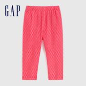 Gap嬰兒 布萊納小熊系列 柔軟童趣印花鬆緊休閒褲 602001-粉紅色