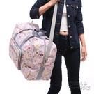 新款大容量摺疊旅行袋女時尚輕便防水旅游收...