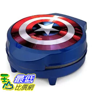 [美國直購] Marvel MVA-278 美國隊長 鬆餅機 Captain America Shield Waffle Maker, Blue