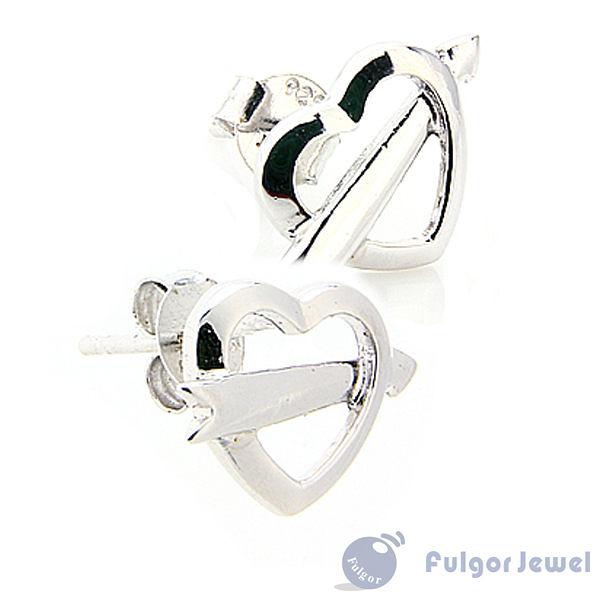 FU飾品 925純銀 聖誕節 禮物 歐美意大利流行 愛神之箭925純銀耳環【Fulgor Jewel】