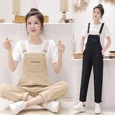 網紅吊帶褲女韓版寬鬆2021新款時尚夏季套裝洋氣減齡牛仔褲寬管褲 果果輕時尚