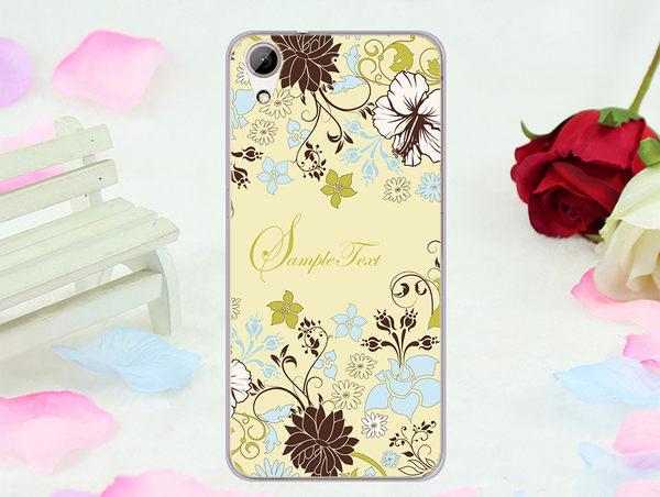 ✿ 俏魔女美人館✿ 【綠色花朵*立體浮雕軟殼】htc 728手機殼 手機套 保護套 保護殼