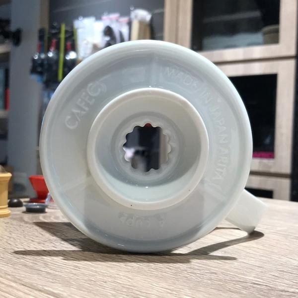 【沐湛咖啡】三洋 有田燒 日本製 花瓣濾杯 錐形濾杯 葵花濾杯 白色 1-2人份 手沖咖啡濾杯