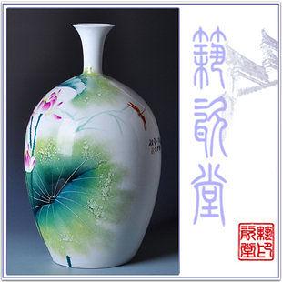 荷花碗蓮陶瓷工藝品