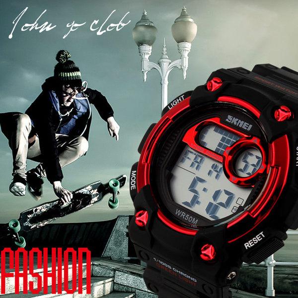 SKMEI 50米防水 時刻美電子錶 夜光運動 多功能登山大錶盤 【不含盒】 ☆匠子工坊☆【UK0122】