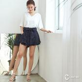 CANTWO點點層次荷葉褲裙-共兩色