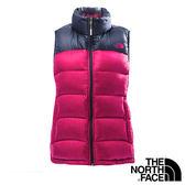 The North Face 女 800 fill 羽絨背心-紫紅/宇宙藍 【GO WILD】