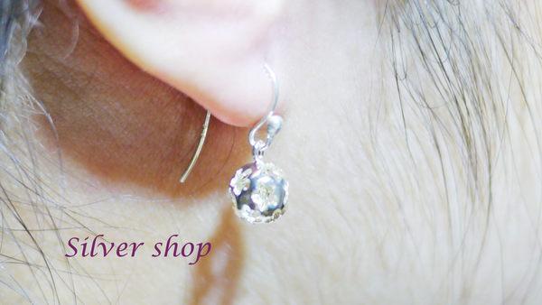 Silver shop 純銀 925 耳環 [ se 096 ]