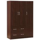 【Hopma】三門二抽衣櫃/衣櫥/櫃子-胡桃木