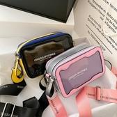 上新質感百搭透明小包包2020新款女包洋氣果凍流行小方小眾斜背包 雙11提前購