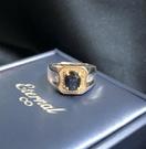 -靛青藍寶1.68克拉男戒指-含寶石鑑定...