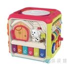 嬰兒手拍鼓拍拍鼓六面體益智玩具6個月寶寶早教音樂多功能充電1歲 小時光生活館