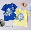 純棉 趣味立體大嘴鯊魚短T 春夏童裝 男童棉T 男童上衣 男童短袖 男童T恤