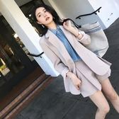 女裝港味休閒外套西服俏皮職業OL小西裝短褲兩件套裝 ATF安妮塔小舖