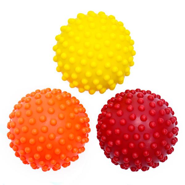 台灣製刺刺按摩球(3入硬度組)筋膜球花生球.腳底按摩器.激痛球手指訓練球.運動用品推薦哪裡買ptt