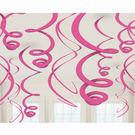 螺旋吊飾12入-漾彩粉