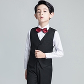 兒童禮服 男童花童男孩演出鋼琴表演馬甲套裝小主持人西裝婚禮春【快速出貨八折下殺】