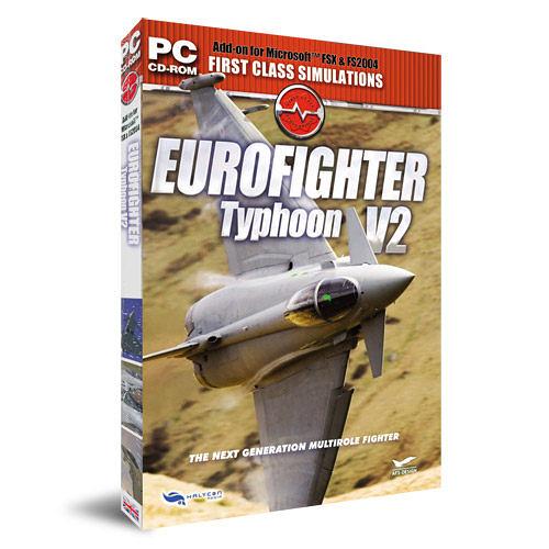 【軟體採Go網】PCGAME-模擬飛行X / 模擬飛行2004-歐洲戰機2 Eurofighter Typhoon V2 盒裝完整版