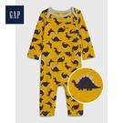 Gap男嬰兒柔軟圓領長袖一件式包屁衣516696-裝飾色