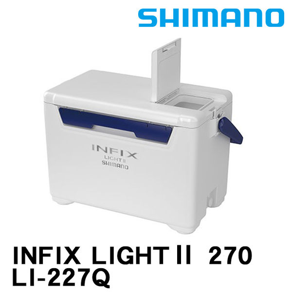 漁拓釣具 SHIMANO INFIX LIGHT II LI-227Q 27公升 白藍 (硬式冰箱)